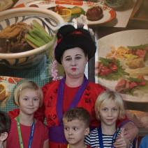 Školní jídelna a japonský den
